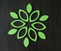 3D Drevené nalepovacie dekorácie-Listy
