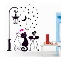 Nálepka na stenu- Mačičky