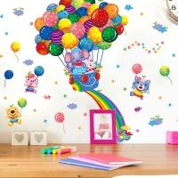 Nálepka na stenu- Lietajúci balón