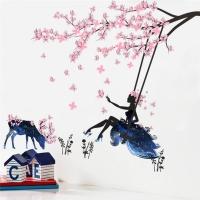 Nálepka na stenu- Víla kvetov