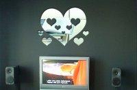 Zrkadlové nálepky - Srdce