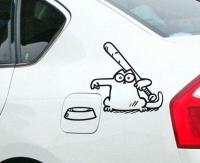 Nálepka na auto- Cica/ Nakŕm ma