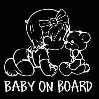 Nálepka na auto- Baby on Board II strieborná