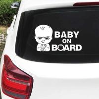 Nálepka na auto- Baby on Board I strieborná