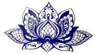 Nálepka na stenu- Lotosový kvet
