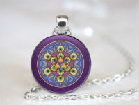 Strieborný náhrdelník Merkaba + Kvet života