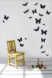 Nálepka na stenu- Motýle