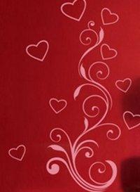 Nálepka na stenu- Srdcia