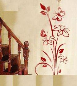 Nálepka na stenu- Kvety