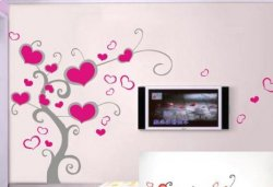 Nálepka na stenu- Srdcový strom 2