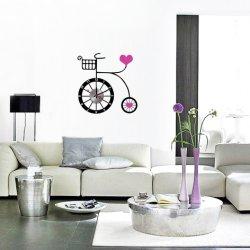 Nalepovacie hodiny na stenu- Bicykel