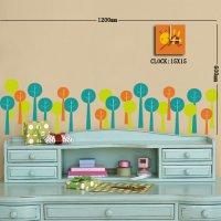 Nálepka s hodinami- Stromy a včela