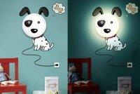 Detská lampa s nálepkou-Psík