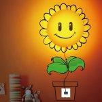 Detská lampa s nálepkou-Slnečnica