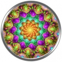Snap button Fractal Mandala