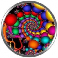 Snap button Fractal 1