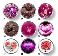 Valentínske snap buttony 6