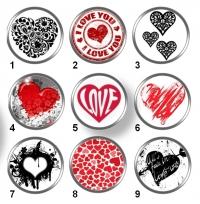 Valentínske snap buttony 4