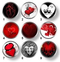 Valentínske snap buttony 8