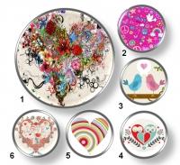 Valentínske snap buttony 10