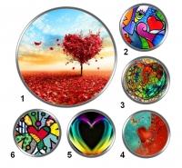 Valentínske snap buttony 11