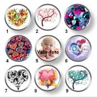 Valentínske snap buttony 12