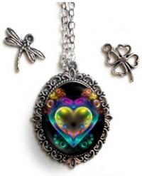 Strieborný náhrdelník s valentínskym motívom MALÝ