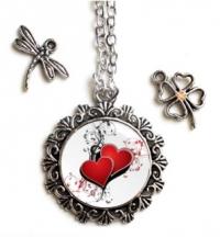 Strieborný náhrdelník s valentínskym motívom KRUH