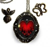 Bronzový náhrdelník s valentínskym motívom VEĽKÝ