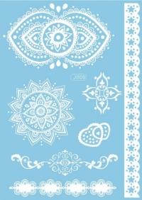 Biela svadobná tetovačka 1