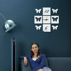 Zrkadlové hodiny Motýle