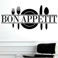 Nálepka na stenu- Bon Appetit