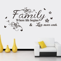 Nálepka na stenu- Family