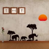 Nálepka na stenu- Slony