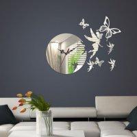 Zrkadlové hodiny Víla s motýľmi