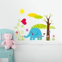 Nálepka na stenu- Slon