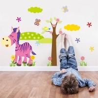 Nálepka na stenu- Zebra