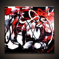 Červená abstrakcia 3